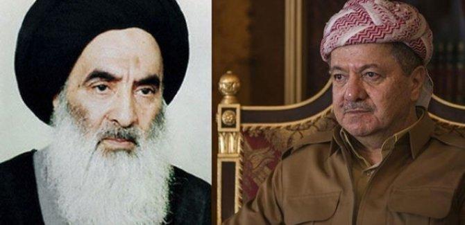 Mesud Barzani'den Sistani'nin ailesine geçmiş olsun telefonu