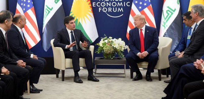 Serokê Herêma Kurdistanê û Serokê Amerîkayê civiyan