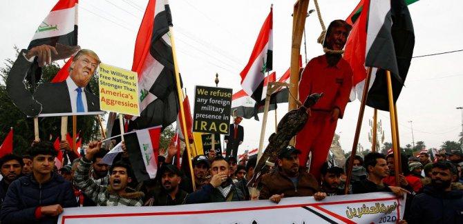 Bağdat'ta  ABD'ye karşı gösteri