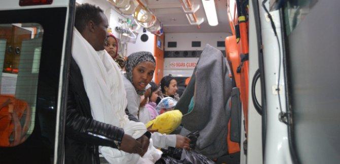 Donmak üzere olan 83 düzensiz göçmen kurtarıldı
