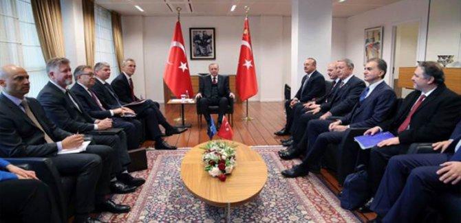 Erdoğan ile NATO Genel Sekreteri Stoltonberg bir araya geldi