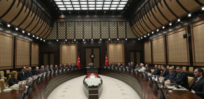 Cumhurbaşkanlığı Külliyesi'nde 'koronavirüs' toplantısı
