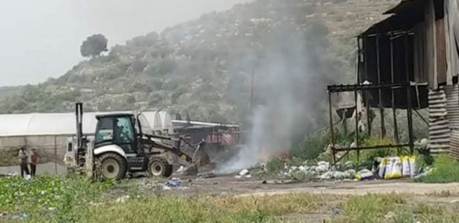 İşgalci İsrail Filistin'deki Tarım Arazilerine Zarar Veriyor