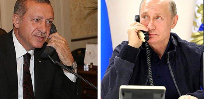 Kremlin: Putin'le Erdoğan telefonda görüştü