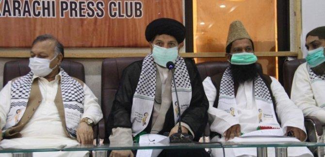 Pakistan'da Sünni ve Şii Gruplardan Ortak Kudüs Günü Basın Toplantısı