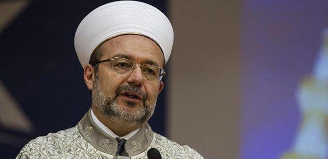Mehmet Görmez: Sosyal medya amel defterine tabidir