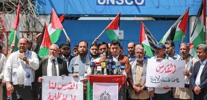 Gazzeliler 53. yılında Doğu Kudüs'teki İsrail işgalini protesto etti