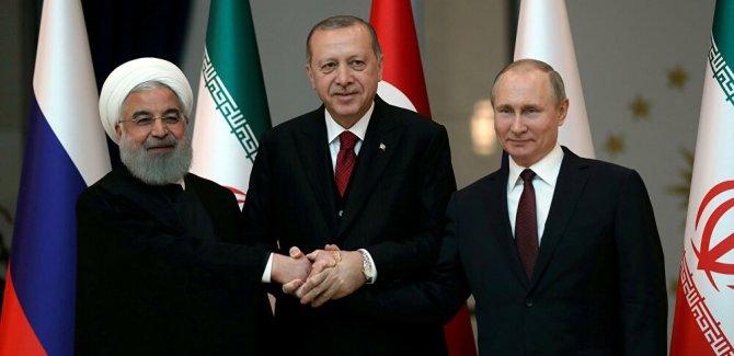 Putin, Erdoğan ve Ruhani'den ortak bildiri