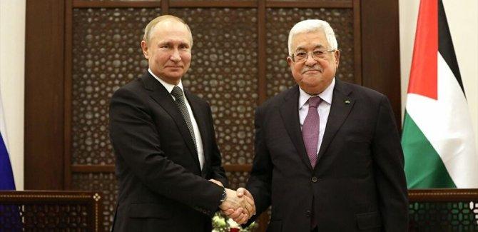 Putin'den Abbas'a: Filistin-İsrail sorununa adil bir çözüm bulunmasını destekliyorum