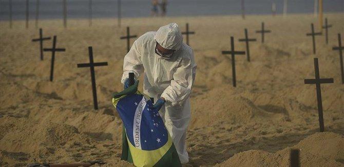 Covid-19'dan son 24 saatte Brezilya'da 1437, Hindistan'da 904, Meksika'da 829 kişi öldü