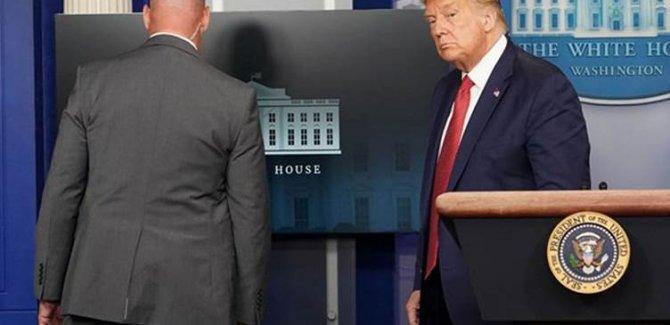 Beyaz Saray'da silah sesleri; Trump toplantıdan çıkarıldı