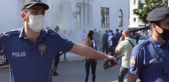 Bursa'da esnaf valiliğin önünde kendisini ateşe verdi