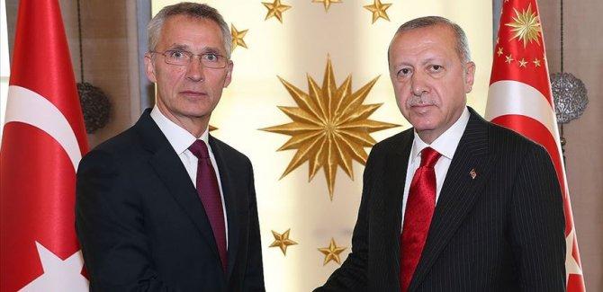 Erdoğan, Stoltenberg ile Doğu Akdeniz'i görüştü