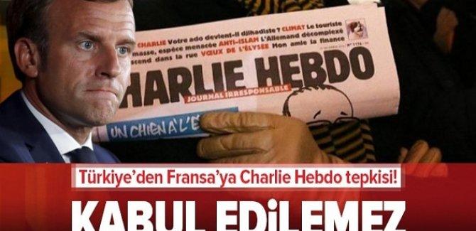 Provakatör faşist Charlie Hebdo dergisi için kınama