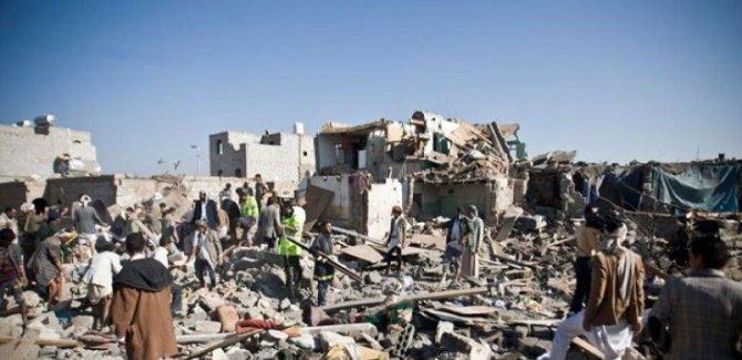 Yemen'e Yoğun Saldırı