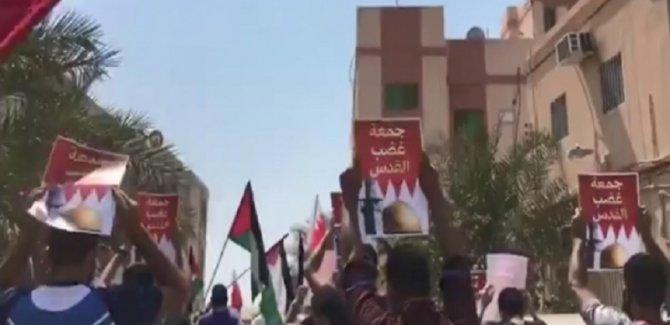Bahreyn'de ırkçı İsrail ile imzalanan normalleşme anlaşması protestoları devam ediyor
