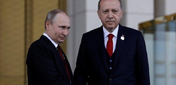 Erdoğan ve Putin'den telefon görüşmesi
