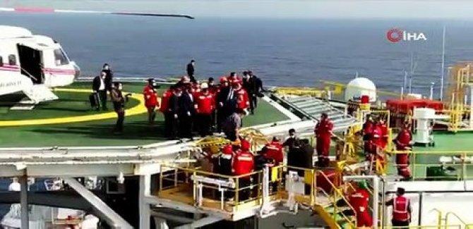 Erdoğan, Fatih sondaj gemisinde: Toplam rezerv 405 milyar metreküpe ulaştı