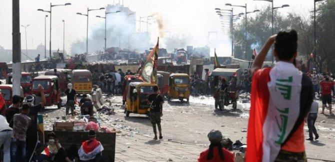 Bağdat'ta 25 Ekim gösterilerinin yıldönümünde meydanlar yeniden hareketlendi