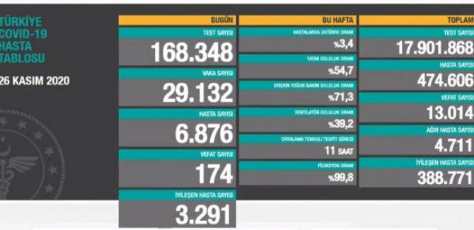 174 kişi daha hayatını kaybetti: Yeni vaka sayısı 29 bin 132