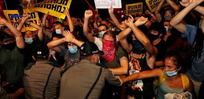 Netanyahu karşıtı gösterilerde 27 gözaltı