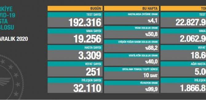 251 kişi daha hayatını kaybetti: Yeni vaka sayısı 19 bin 256