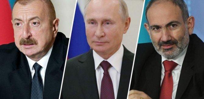 Putin, Aliyev ve Paşinyan Moskova'da görüşecek