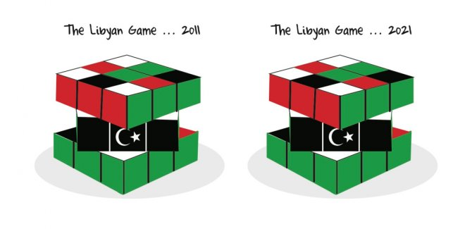 Arap Baharı Karikatürü: Libya Oyunu