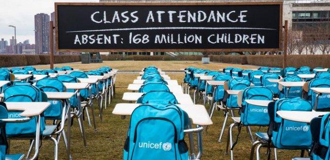 UNICEF: 168 milyon çocuk bir yıldır okula gidemiyor