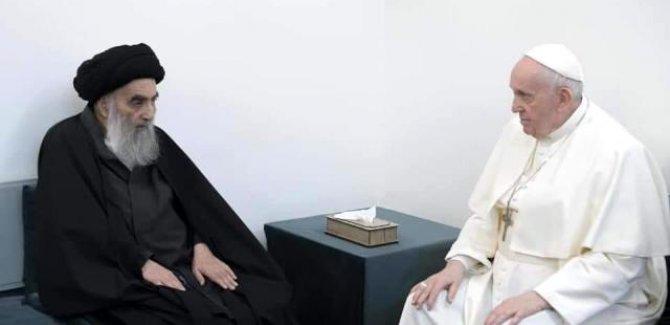 Papa Francis, Sistani ile bir araya geldi