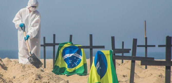 Brezilya'da bir günde en yüksek ölüm: 3 bin 650 can kaybı
