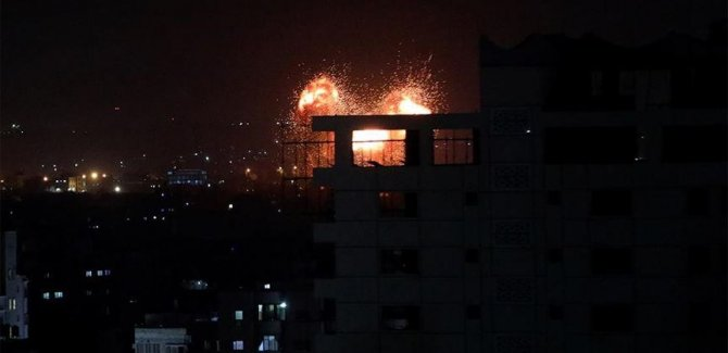 İşgal ordusundan Gazze'ye hava saldırısı