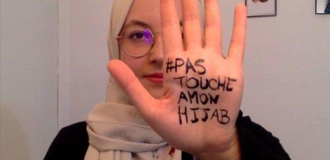 Fransa'da Müslüman kadınlar 'Başörtüme dokunma' diyor