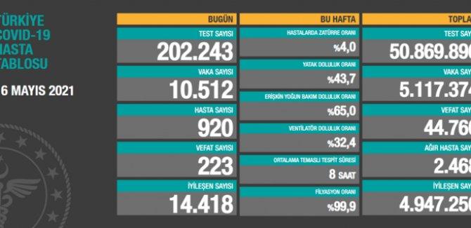 10 bin 512 vaka tespit edildi, 223 can kaybı