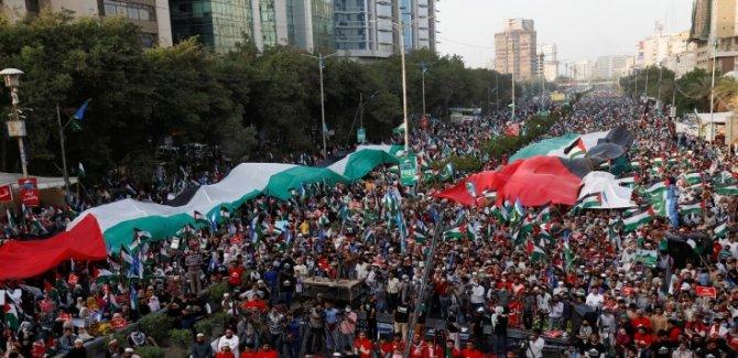 Pakistan'dan Filistin'e Muhteşem Destek Gösterisi
