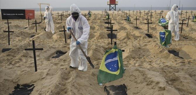 Brezilya'da hayatını kaybedenlerin sayısı yarım milyonu geçti