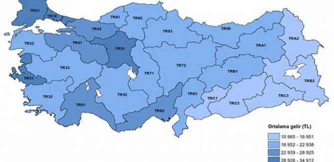 """TUİK: """"En düşük gelirli iller Van, Muş, Bitlis, Hakkari"""""""