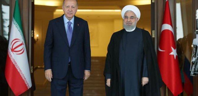 Cumhurbaşkanı Erdoğan Ruhani ile görüştü
