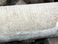 Elazığ'daki Kızıl Kilise kazılarında 165 yıllık kitabe bulundu