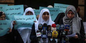 Gazze'li Kadınlardan protesto
