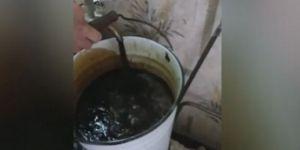 Film Gerçek oldu: Musluklardan petrol akıyor