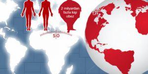 Dünya nüfusunun üçte biri obez