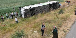 Amasya'da yolcu otobüsü devrildi:5 ölü