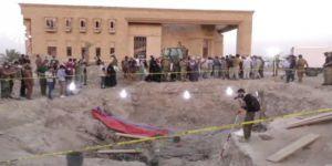 Mezardan 550 ceset çırakıldı