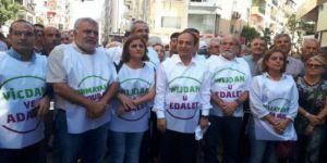 HDP'nin 'Vicdan ve Adalet Nöbeti' İzmir'de devam ediyor