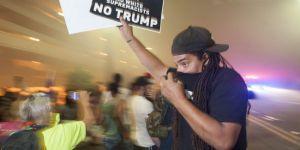 Trump protestosuna gazlı müdahale
