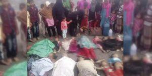 Arakan'daki katliamdan kaçıp nehirde boğuldular