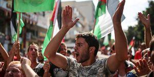 Gazze'de Siyonist abluka protestosu