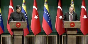 Erdoğan ve Maduro : Dış müdahalelerin sorunları derinleştirdiğini düşünüyoruz