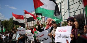 Gazzelilerden Filistin uzlaşısına destek